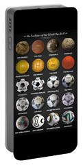The World Cup Balls Portable Battery Charger by Taylan Soyturk
