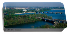 This Is An Aerial View Of Washington Portable Battery Charger by Panoramic Images