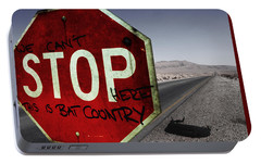 This Is Bat Country Portable Battery Charger by Nicklas Gustafsson
