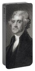 Thomas Jefferson Portable Battery Charger by Gilbert Stuart