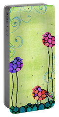 Three Birds - Spring Art By Sharon Cummings Portable Battery Charger by Sharon Cummings