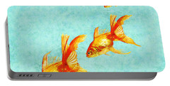 Three Little Fishes Portable Battery Charger by Jane Schnetlage