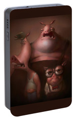 Three Little Pigs Portable Battery Charger by Adam Ford