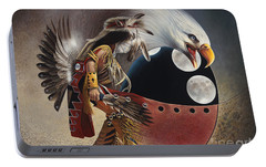 Three Moon Eagle Portable Battery Charger by Ricardo Chavez-Mendez