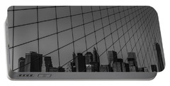 Through Brooklyn Bridge Portable Battery Charger by Chris Fletcher