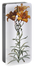Tiger Lily Portable Battery Charger by Pierre Joseph Redoute