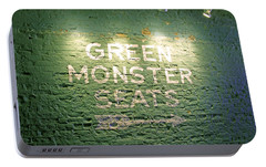 To The Green Monster Seats Portable Battery Charger by Barbara McDevitt