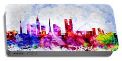 Tokyo Watercolor Portable Battery Charger by Daniel Janda
