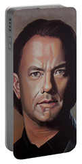 Tom Hanks Portable Battery Charger by Paul Meijering