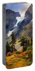 Top Of Cascade Pass Portable Battery Charger by Inge Johnsson