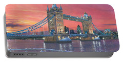Tower Bridge After The Snow Portable Battery Charger by Richard Harpum