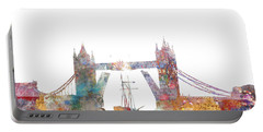 Tower Bridge Colorsplash Portable Battery Charger by Aimee Stewart