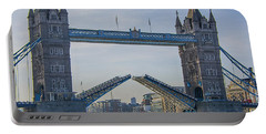 Tower Bridge Opened Portable Battery Charger by Chris Thaxter