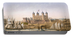 Tower Of London, 1862 Portable Battery Charger by Achille-Louis Martinet