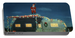 Trailer House Christmas Portable Battery Charger by James W Johnson