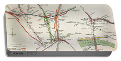 Transport Map Of London Portable Battery Charger by English School