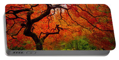 Tree Fire Portable Battery Charger by Darren  White