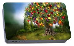 Tree Of Abundance Portable Battery Charger by Carol Cavalaris
