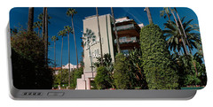 Trees In Front Of A Hotel, Beverly Portable Battery Charger by Panoramic Images