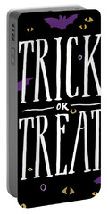 Trick Or Treat Portable Battery Charger by Wild Apple Portfolio