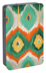 Tropical Ikat II Portable Battery Charger by Patricia Pinto