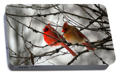 True Love Cardinal Portable Battery Charger by Peggy  Franz