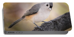 Tufted Titmouse Portable Battery Charger by Bill Wakeley