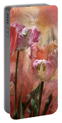 Tulips - Colors Of Love Portable Battery Charger by Carol Cavalaris