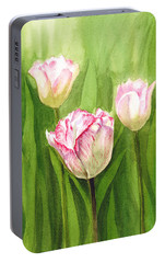 Tulips In The Fog Portable Battery Charger by Irina Sztukowski