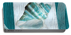 Turquoise Seashells Xxii Portable Battery Charger by Lourry Legarde