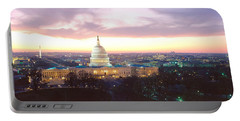 Twilight, Capitol Building, Washington Portable Battery Charger by Panoramic Images