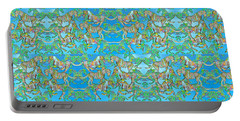 Under The Sea Horses Portable Battery Charger by Betsy Knapp
