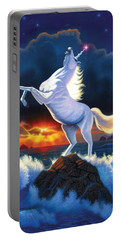 Unicorn Raging Sea Portable Battery Charger by Chris Heitt