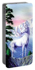 Unicorn The Land That Time Forgot Portable Battery Charger by Garry Walton