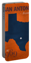 University Of Texas At San Antonio Roadrunners College Town State Map Poster Series No 111 Portable Battery Charger by Design Turnpike