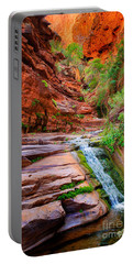Upper Elves Chasm Cascade Portable Battery Charger by Inge Johnsson