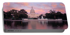 Us Capitol Washington Dc Portable Battery Charger by Panoramic Images
