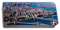 Usa, New York, Brooklyn Bridge, Aerial Portable Battery Charger by Panoramic Images
