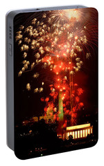 Usa, Washington Dc, Fireworks Portable Battery Charger by Panoramic Images