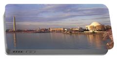 Usa, Washington Dc, Tidal Basin, Spring Portable Battery Charger by Panoramic Images