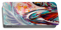 Vanishing Native - Steelhead Trout Flyfishing Art Portable Battery Charger by Savlen Art