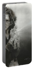 Eddie Vedder - ' Vedder Iv ' Portable Battery Charger by Christian Chapman Art