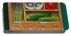 Vegetable Shelf Portable Battery Charger by Brian James