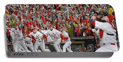 Victory - St Louis Cardinals Win The World Series Title - Friday Oct 28th 2011 Portable Battery Charger by Dan Haraga