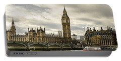 View From Southbank Portable Battery Charger by Heather Applegate