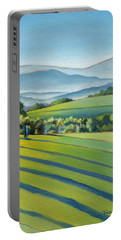 Vineyard Blue Ridge On Buck Mountain Road Virginia Portable Battery Charger by Catherine Twomey