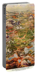 Vintage Map Of Yellowstone National Park Portable Battery Charger by Edward Fielding