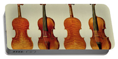 Violins Portable Battery Charger by Alfred James Hipkins