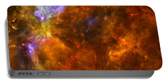 Portable Battery Charger featuring the photograph W3 Nebula by Science Source