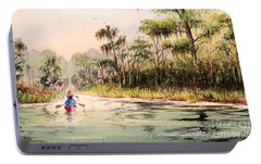Wacissa River  Portable Battery Charger by Bill Holkham
